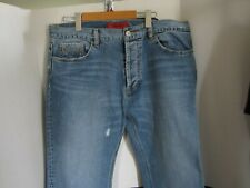 HUGO BOSS   mens  button fly   distressed   jeans    size 36W  32L