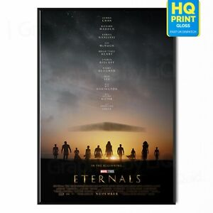 Eternals Marvel Cinematic 2021 Movie Poster Print   A5 A4 A3 A2 A1  