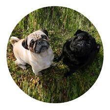 New Stylish Pug Pets Round Mat Floor Rugs Home Carpet Circle Non-Slip Ground Mat