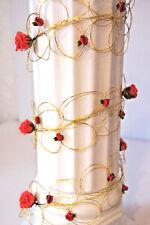 1,30 Geburtstag Rosengirlande Tischdeko Hochzeit K113 Rot  Dekoration Taufe Deko