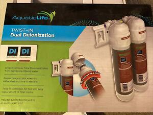 Aquatic Life Twist In Dual Deionization Reverse Osmosis System 2 Cartridges Nib