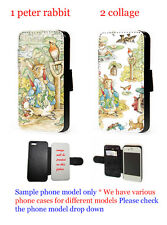 Peter Rabbit Inspired phone case flip faux leather wallet for iphone Xperia HTC