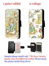 Peter Rabbit phone case flip faux leather wallet  iphone 6 7 7+ 8 samsung s6 s7