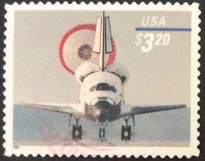 1998 $3.20 Space Shuttle Landing Priority Mail single, Scott #3261, Used, VF