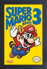 SUPER MARIO 3 VIDEO GAME 13x19 FRAMED GELCOAT POSTER NINTENDO CLASSIC VINTAGE!!!