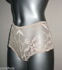 WOLFORD VELVET LACE PANTY, KNICKERS, SMALL, UK 10-12, USA 6-8, Beige, new in box