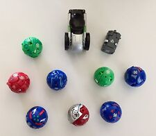 Bakugan Battle Brawlers Lot of 10 Transforming Figure Balls & Metal Cards, set 4