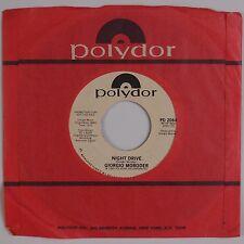 "GIORGIO MORODER: Night Drive USA DJ Promo POLYDOR 7"" 45 VG+"
