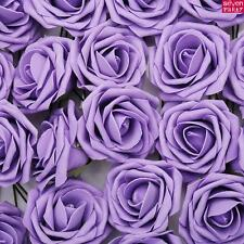 100 Artificial Foam Roses Flowers Wedding Bride Bouquet Party Flowers Home Decor