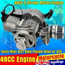 49cc 2 Stroke Pull Start Engine Motor Carby Mini Dirt Pocket ATV Quad Bike PIT