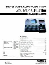 Yamaha AW4416 Professional Audio Workstation Service Manual and Repair Guide