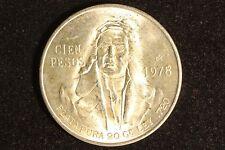 1978 Mexico 100 Pesos Plata Pura Uncirculated Mexican Cien Pesos