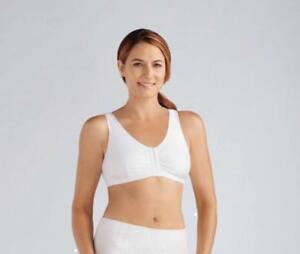 Amoena Frances non underwire front opening Mastectomy bra white 2128