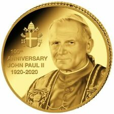 Papst Johannes Paul II 100 Geburtstag 2020 1/2 Gramm Goldmünze Polierte Platte