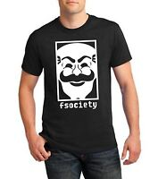 Fsociety T-Shirt Mr Robot TV Show Hacker Mask Computer Gamer Funny Gift