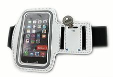 WHITE ARMBAND PHONE POUCH, SPORTS, GYM, RUNNING JOGGING, CYCLING, FITNESS, GIFT