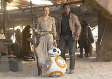Rey Star Wars BB8 Finn Daisy Ridley Poster, Large, FREE P+P, CHOOSE YOUR SIZE