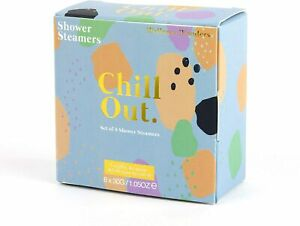 Chillout Set of 8 Shower Steamers Wake Up Vanilla, Jasmine & Valerian Scented