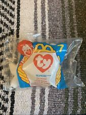 TY SEAMORE The Seal Beanie Baby Plush Toy #7 SEALED 1996 McDonalds
