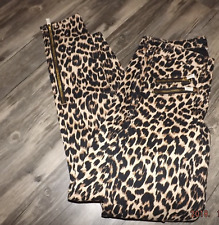 NEW JUICY COUTURE LEOPARD PRINT SKINNY JEANS SIZE 24 Motorcycle biker