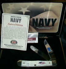 Case XX America's Navy Trapper Knife GIFT Bone Stainless Pocket Knife Collection