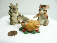 Charming Tails Holy Family Players 87547 For Nativity Christmas Holiday Mouse