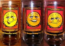 1 Vintage 1979 Burger King Collector Series Glass BURGER FACES Unused Rare Mint