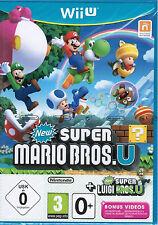 Wii U del juego New Super Mario Bros. u + New Super Luigi U alemán nuevo precintado