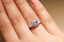 2.60 CT Round Cut Bridal Engagement RING Genuine Moissanite Size 6.5-10.5