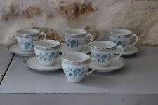 Service à café Tasses Sous tasses Porcelaine Limoges HAVILAND Modèle NANKIN - 2