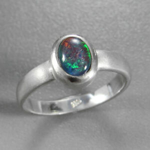 Schmuck-Michel Damen Ring Silber 925 mit Opal-Triplette (4470)  Ringgröße 58