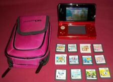 Nintendo DS Lite Console Crimson Red 12 Game Bundle Tangled,Animal Crossing