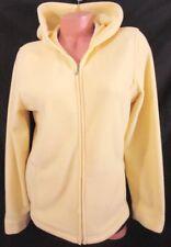 L. L. BEAN Ladies' Light Yellow Fleece Zip Hooded Lt Weight Jacket Medium