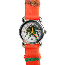 Teenage Mutant Ninja Turtles Style Kids Boy's Analog Quartz Wrist Watch Orange