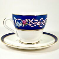 Spode Ribbons and Roses Y8553 Cup and Duchess Warwick Saucer