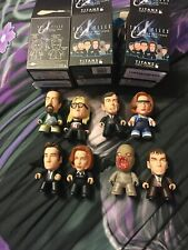 "TITANS X-FILES 3"" VINYL FIGURES COLLECTION SET OF 8 Incl Rare Skully Autopsy"