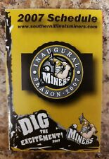 2007 Southern Illinois Miners Frontier League Pocket Schedule