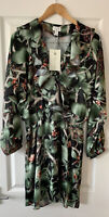 H&M JOHANNA ORTIZ GREEN FLORAL DRESS XL EXTRA LARGE NEW COLLABORATION
