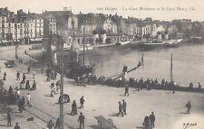DIEPPPE France) : La Gare Maritime et le Quai Henry IV-MARCHAND