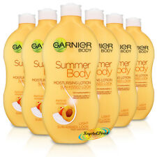 6x Garnier Summer Body Light Even Tan Moisturiser Lotion 400ml Apricot Extract