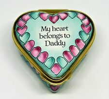 """Halcyon Days English Enamel Box -""""My Heart Belongs To Daddy""""- Horchow Collection"""