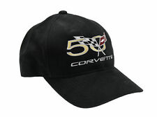 Corvette 50th Anniversary Black Twill Hat