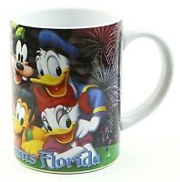 Disney Jerry Leigh 14 oz Mug Mickey Minnie Goofy Pluto Donald Daisy Ceramic NWOT