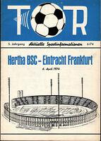 BL 73/74 Hertha BSC - Eintracht Frankfurt, 06.04.1974
