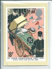 GB - PHQ CARDS -1987 - CENT.ST JOHNS AMBULANCE - BACK - FDI/SHS - COMP SET  USED