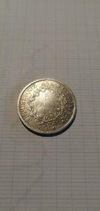 monnaie argent 5 francs hercule 1875 K