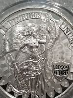 NEW Lady liberty Freedom Girl 1 oz .999 silver american flag sword snake fasces