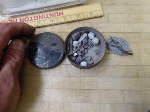 Vintage antique  Fishing   Home fishing weights square Split Shot Sinkers, tin