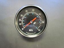 AQUA METER SPEEDOMETER BLACK FACE AND BEZEL MARINE BOAT