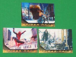 2004 Upper Deck Spider-Man 2 Movie Lenticular INSERT 3 Card Set! L1-L3! DOC OCK!
